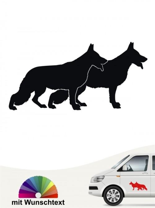 Doppelte Schäferhund Silhouette versch. Farben anfalas.de