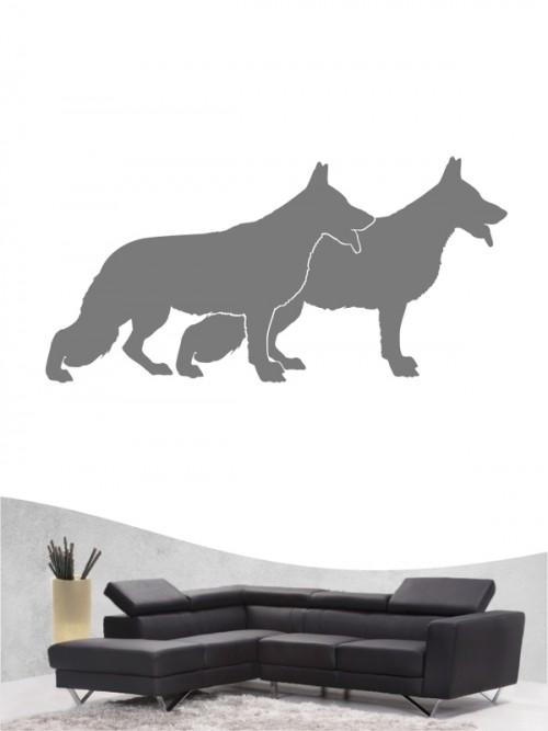 Deutscher Schäferhund 2 - Wandtattoo