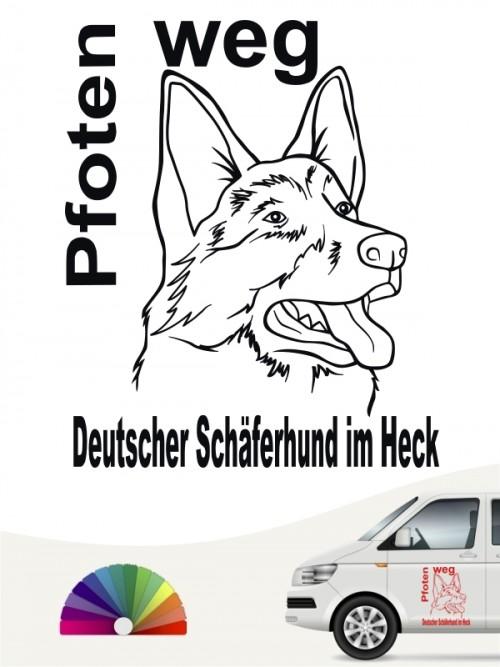 Pfoten weg Dt. Schäferhund Autosticker anfalas.de