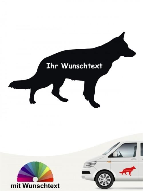 Dt. Schäferhund Silhouette mit Wunschname anfalas.de
