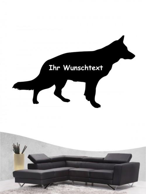 Deutscher Schäferhund 3b - Wandtattoo