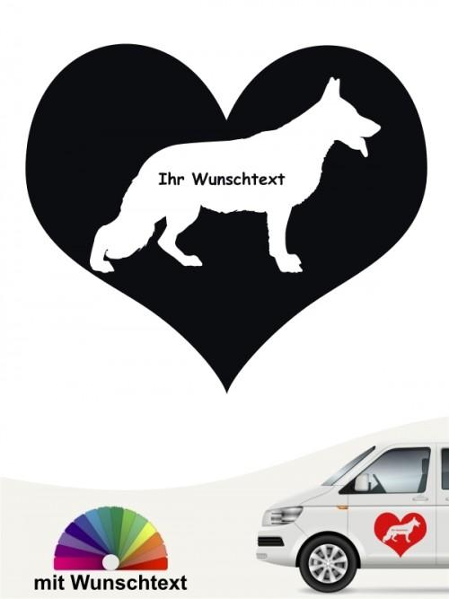 Deutscher Schäferhund Herzmotiv mit Text anfalas.de