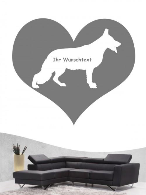 Deutscher Schäferhund 4 - Wandtattoo