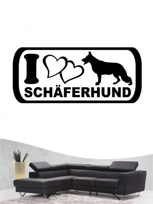 Deutscher Schäferhund 6 - Wandtattoo