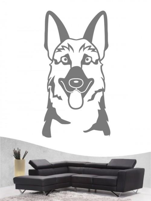 Deutscher Schäferhund Comic - Wandtattoo