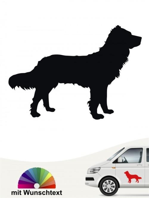 Heckscheibenaufkleber Deutscher Wachtelhund mit Wunschtext anfalas.de