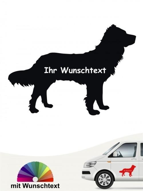 Wachtelhund Silhouette mit Wunschname anfalas.de