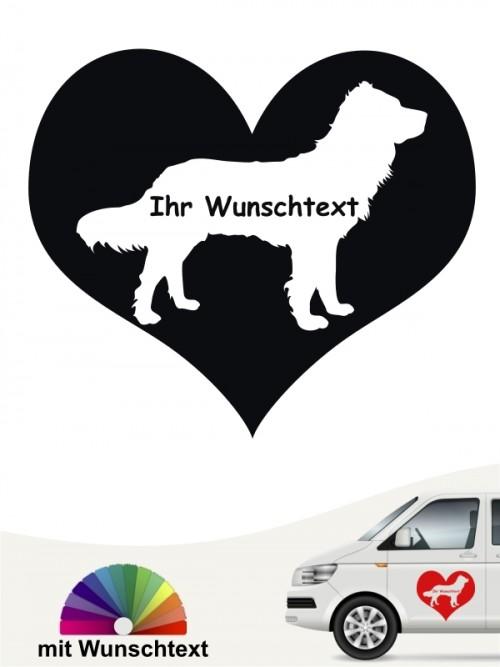 Herzmotiv Autoaufkleber Deutscher Wachtelhund anfalas.de