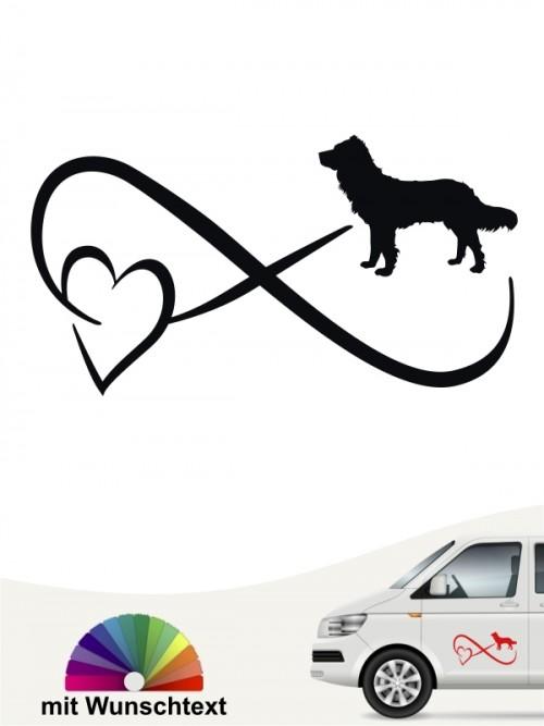 Deutscher Wachtelhund Autoaufkleber mit Wunschtext von anfalas.de