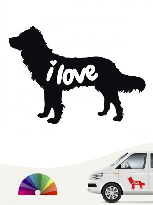 Deutscher Wachtelhund i love Aufkleber von anfalas.de