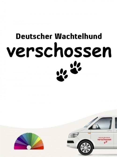 Hunde-Autoaufkleber Deutscher Wachtelhund verschossen von Anfalas.de