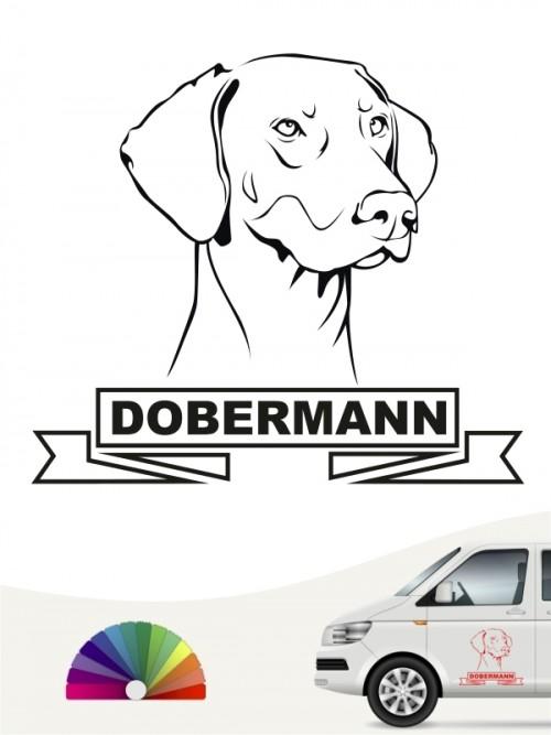 Hunde-Autoaufkleber Dobermann 15 von Anfalas.de