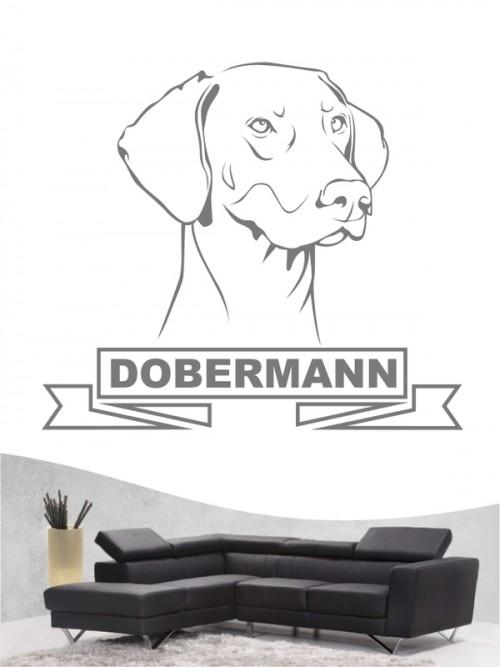 Hunde-Wandtattoo Dobermann 15 von Anfalas.de