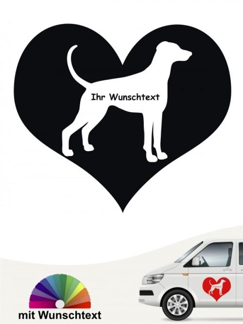 Dobermann Herzmotiv Autosticker mit Wunschname anfalas.de