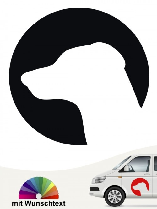 Dobermann Sticker mit Wunschtext anfalas.de
