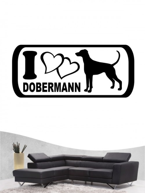 Dobermann 6 - Wandtattoo