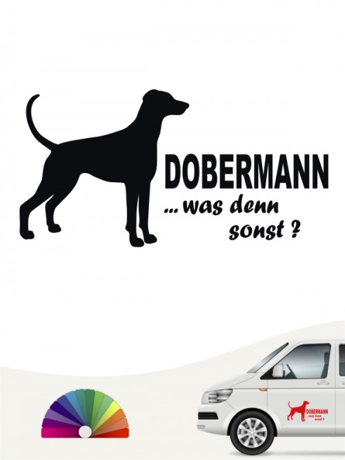 Was denn sonst Dobermann Autoaufkleber anfalas.de