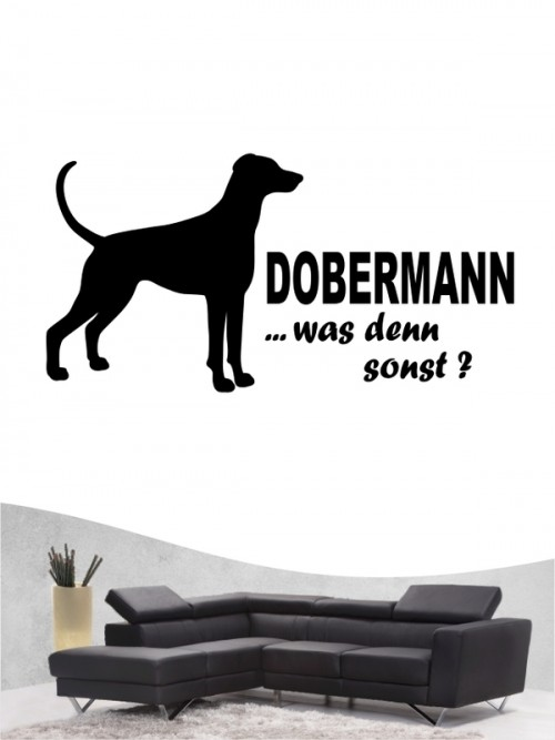 Dobermann 7 - Wandtattoo
