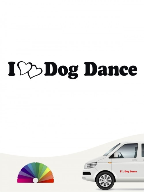 I love Dog Dancing Aufkleber by anfalas.de