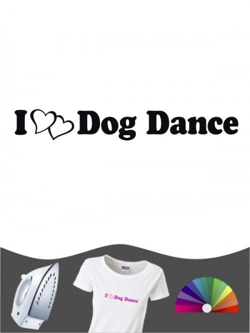 Hunde-Bügelbild Dog Dancing 1 von Anfalas.de