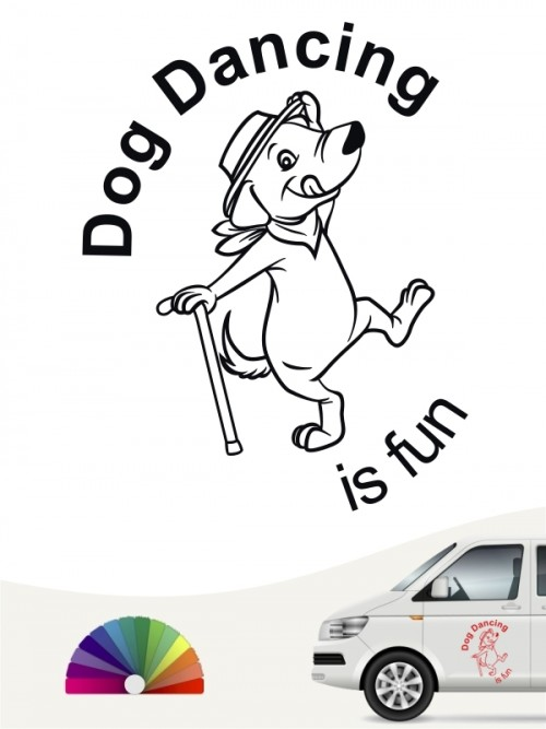 Dog Dance is fun Autosticker von anfalas.de
