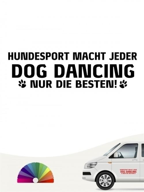 Hunde-Autoaufkleber Dog Dancing nur die Besten von Anfalas.de