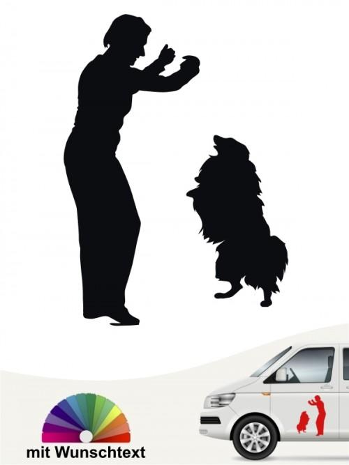 Dogdancing Aufkleber fürs Auto mit Wunschtext anfalas.de