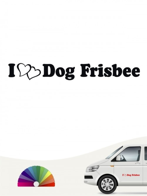 I love Dog Frisbee Aufkleber von anfalas.de