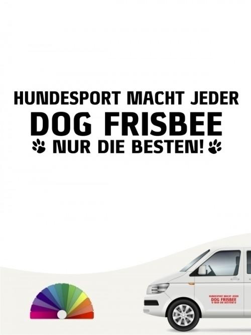 Hunde-Autoaufkleber Dog Frisbee nur die Besten von Anfalas.de