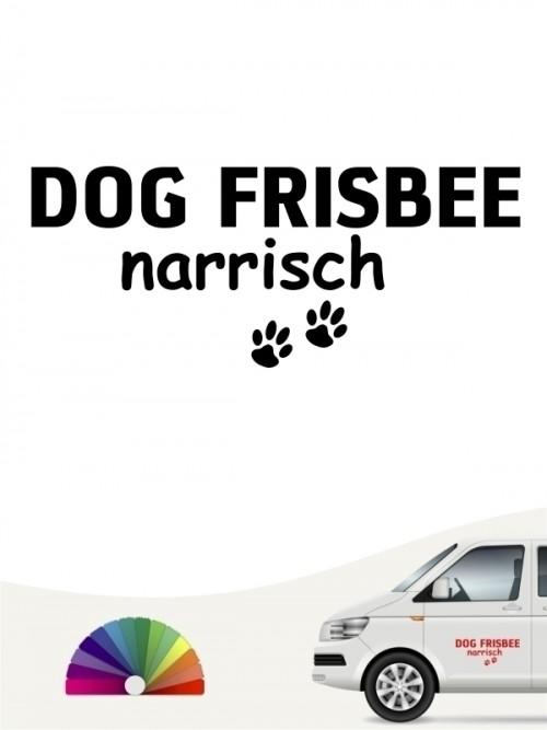 Hunde-Autoaufkleber Dog Frisbee narrisch von Anfalas.de