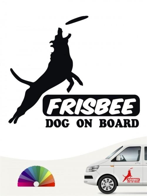 Hunde-Autoaufkleber Dog Frisbee 5 von Anfalas.de