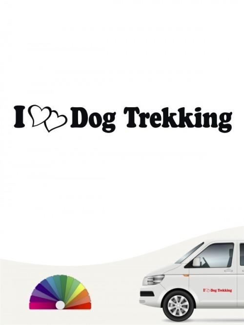 I Love Dogtrekking Heckscheibenaufkleber von anfalas.de