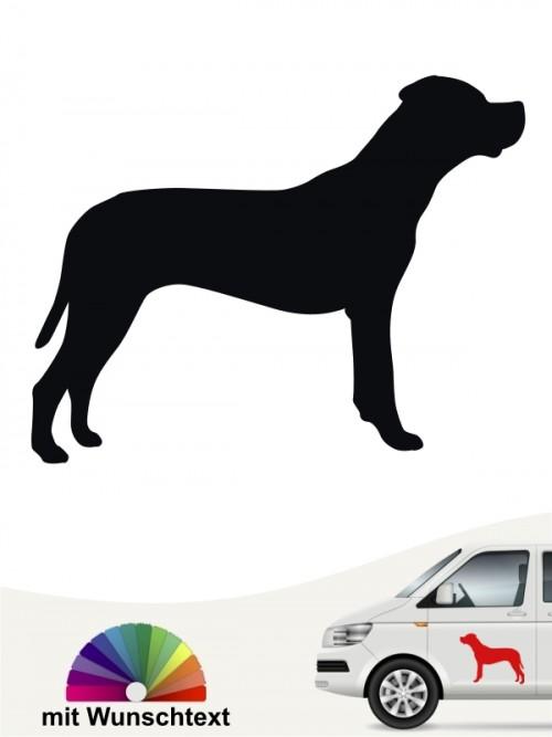 Dogo Argentino Heckscheibenaufkleber mit Wunschtext anfalas.de