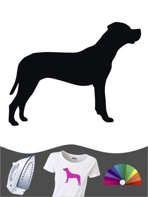 Dogo Argentino 1 - Bügelbild