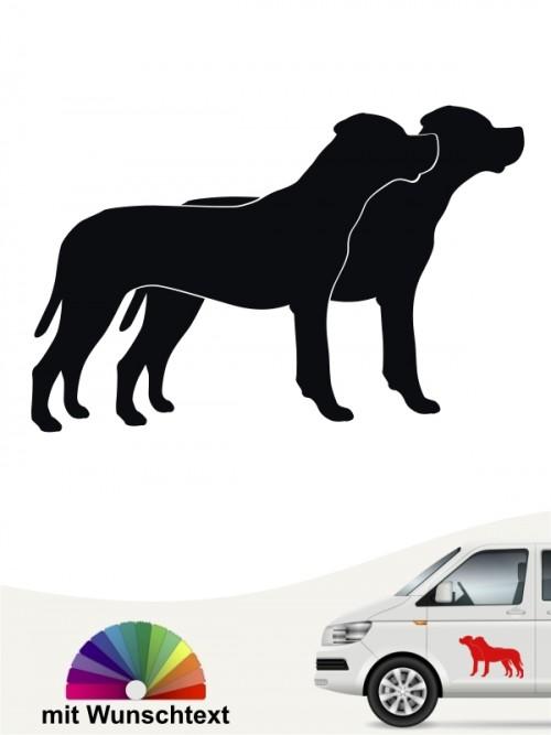 Dogo Argentino doppel Silhouette mit Wunschtext anfalas.de