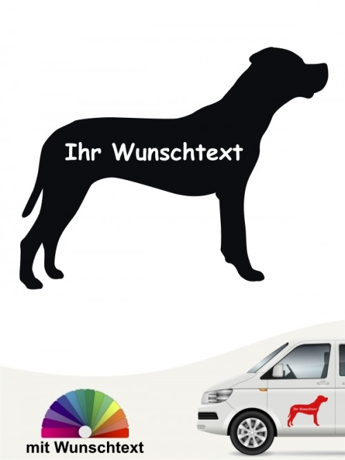 Dogo Argentino Silhouette mit Wunschname anfalas.de