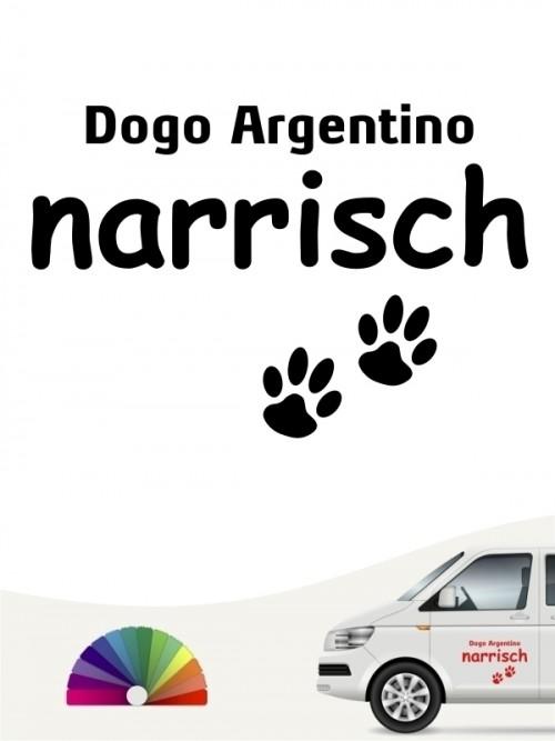 Hunde-Autoaufkleber Dogo Argentino narrisch von Anfalas.de