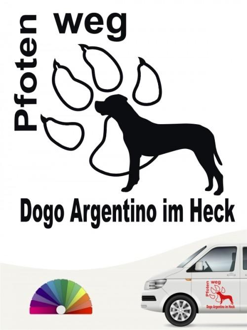 Pfoten weg Hundeaufkleber Dogo Argentino anfalas.de