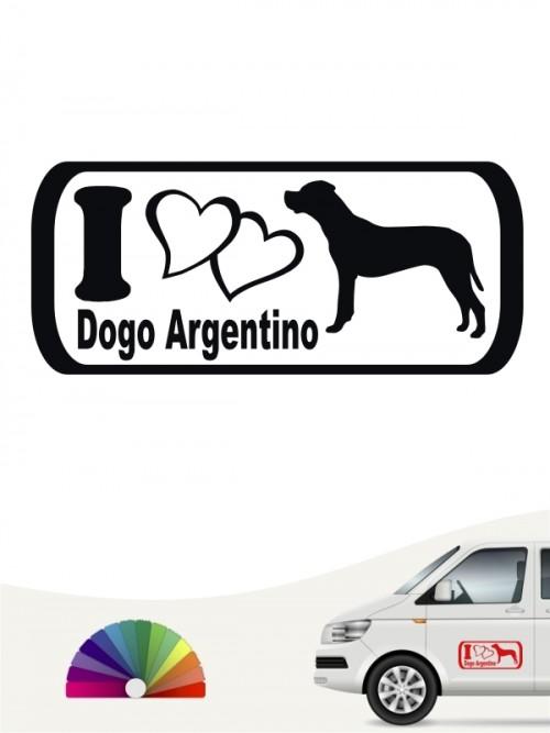 I Love Dogo Argentino Heckscheibenaufkleber anfalas.de