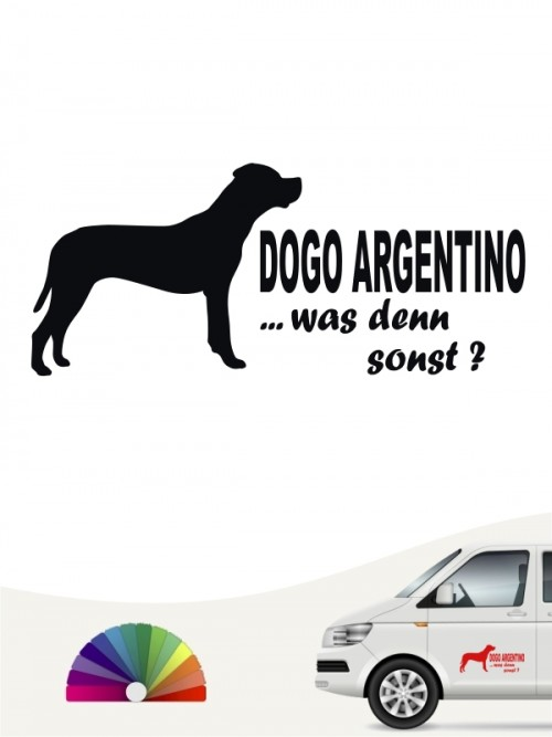 Dogo Argentino was denn sonst Sticker anfalas.de