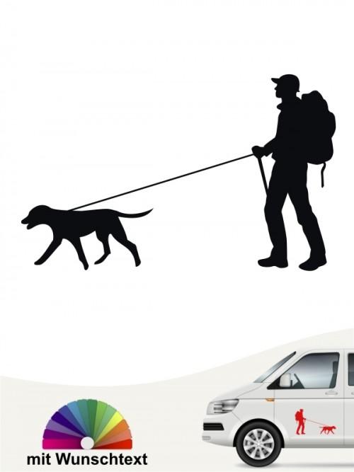 Hunde-Autoaufkleber Dogtrekking 1 von Anfalas.de
