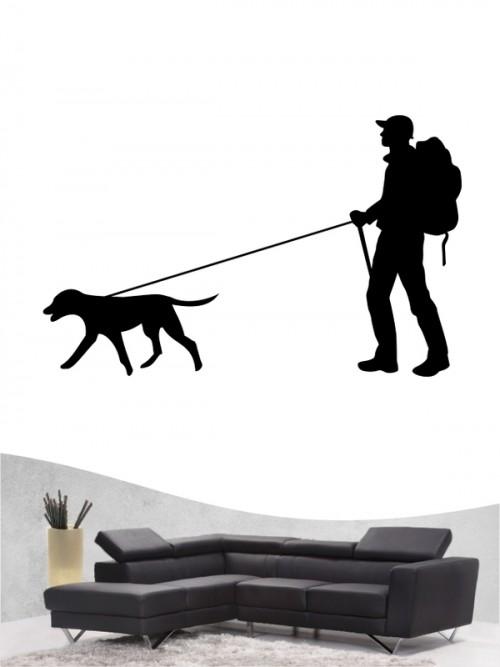 Hunde-Wandtattoo Dogtrekking 1 von Anfalas.de