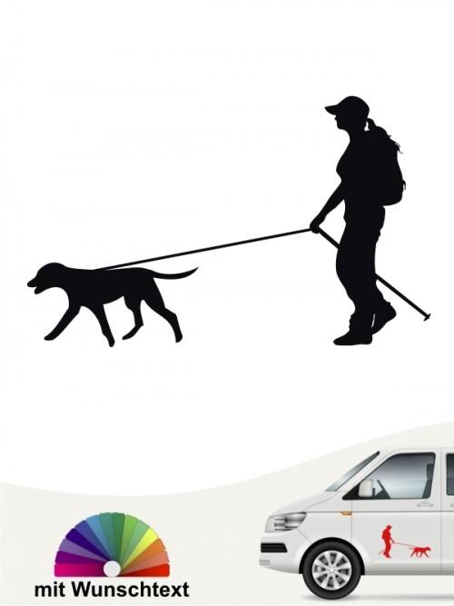 Hunde-Autoaufkleber Dogtrekking 1a von Anfalas.de