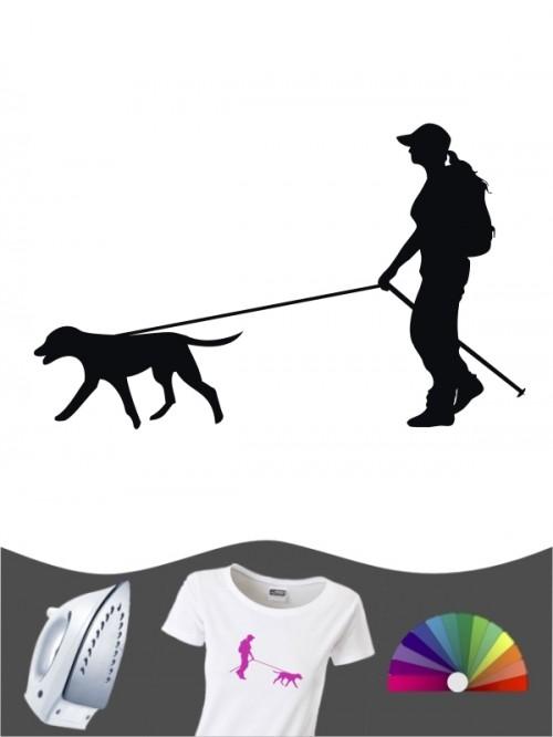 Hunde-Bügelbild Dogtrekking 1a von Anfalas.de