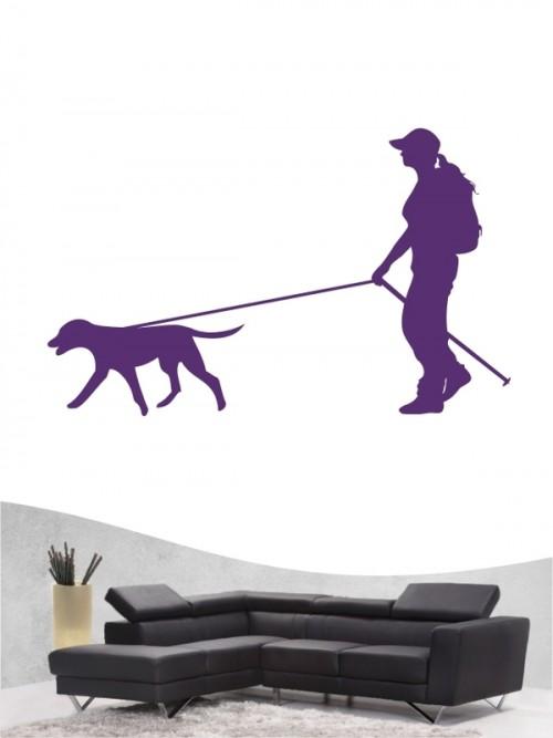 Hunde-Wandtattoo Dogtrekking 1a von Anfalas.de
