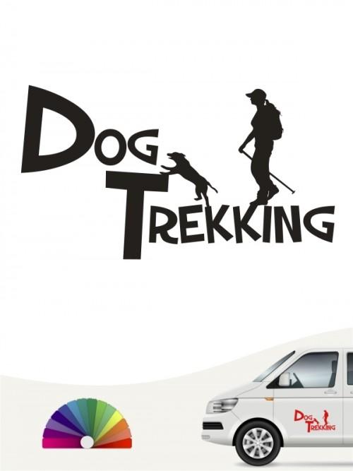 Hunde-Autoaufkleber Dogtrekking 20a von Anfalas.de