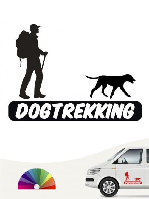 Hunde-Autoaufkleber Dogtrekking 3 von Anfalas.de