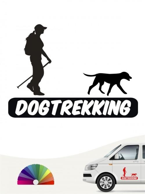 Hunde-Autoaufkleber Dogtrekking 3a von Anfalas.de