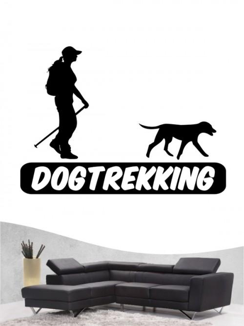 Hunde-Wandtattoo Dogtrekking 3a von Anfalas.de