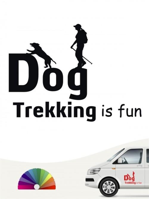 Hunde-Autoaufkleber Dogtrekking 4 von Anfalas.de